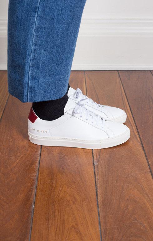 Achilles Retro Low White/Red | Common