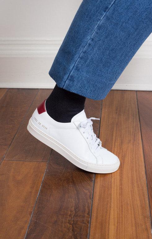 Achilles Retro Low White/Red   Common