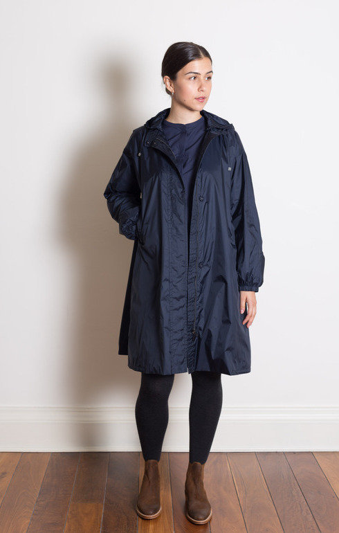 310095b42bccc S Max Mara. Parka Raincoat Midnight Blue