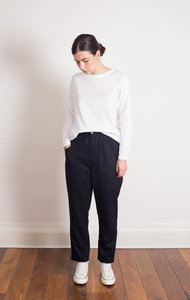 Wool Flannel Relax Utility Pants Navy