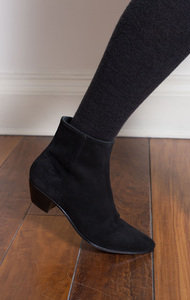 Zip Ankle Boot Suede Black