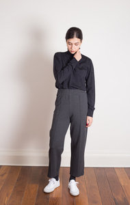 Elly Firm Jersey Trouser Charcoal