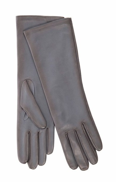Long Leather Glove Riviera/Noir