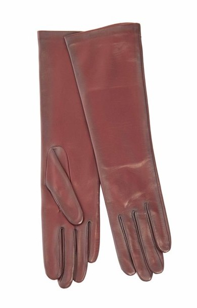 Long Leather Glove Samourai/Noir