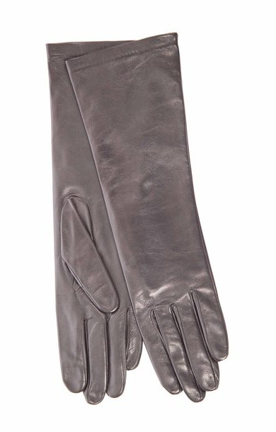 Long Leather Glove Noir