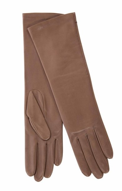 Long Leather Glove Brown