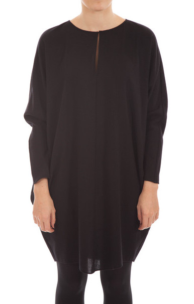 Wool Batwing Dress