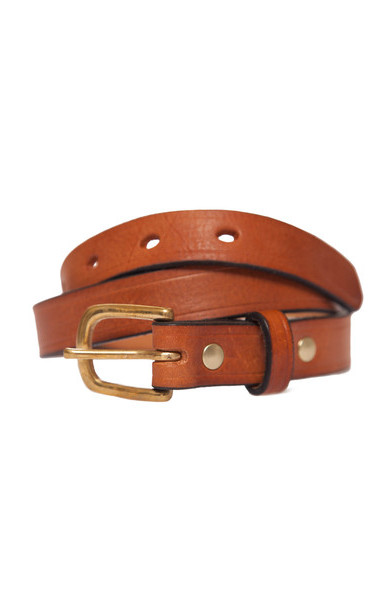 Missouri Tan Leather Belt Narrow