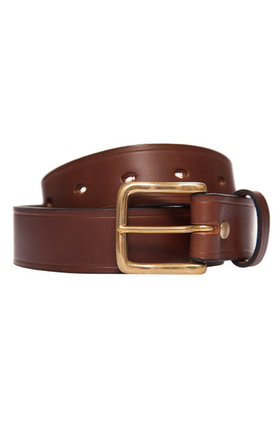 Chestnut Leather Belt Wide