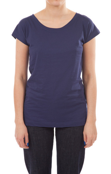 Tag Cotton Jersey T-shirt Indigo