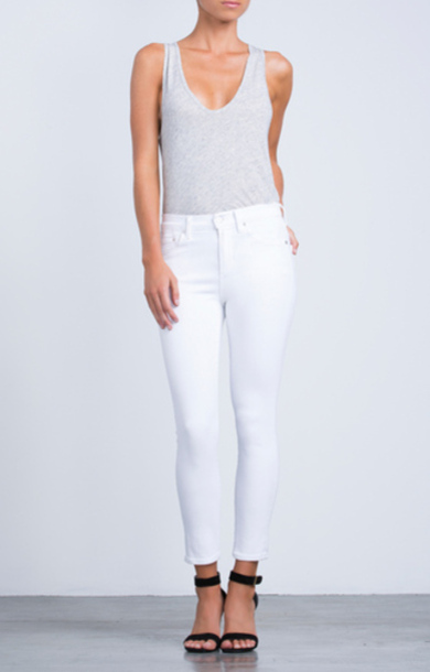 Rocket High Rise Crop Skinny Optic White