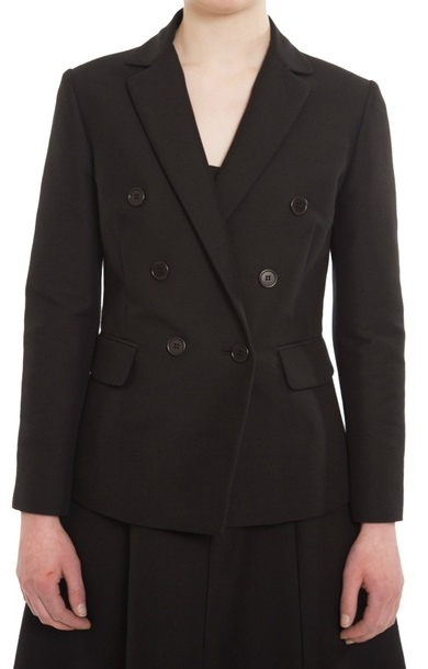 Cotton Double Breasted Blazer