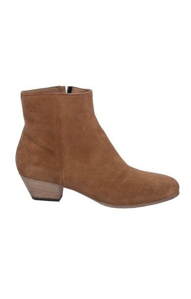 Suede Zipper Boot Brown