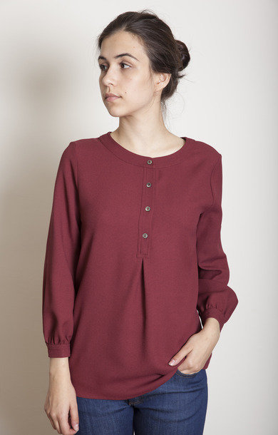 Blouse Riviera Rouge Fonce