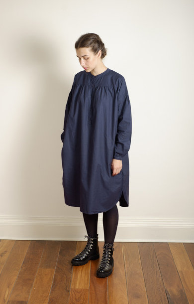 Gaucho Dress Flannel Navy