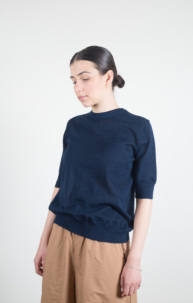 Ilsa Knitted Tee Navy
