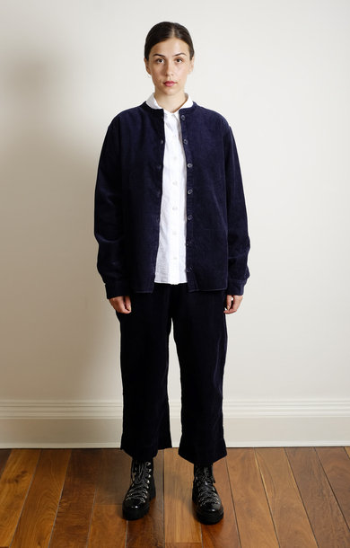 Mao Shirt Cordroy Navy