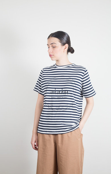 Printed Striped Tee Mix Navy