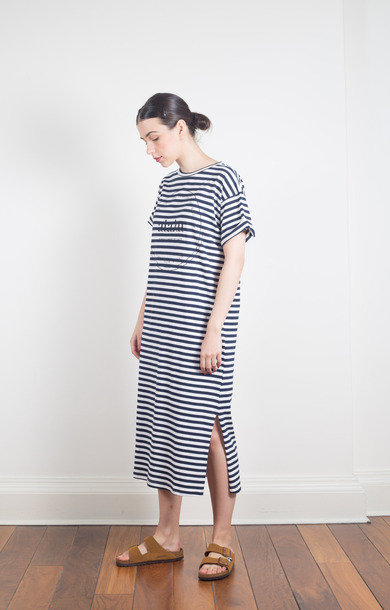 Printed Tee Dress Mix Navy