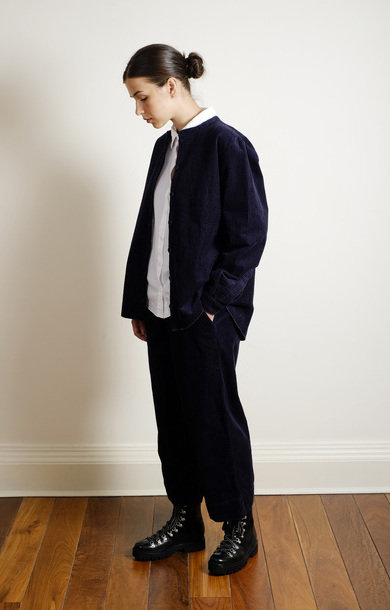Straight Pant Cordroy Navy
