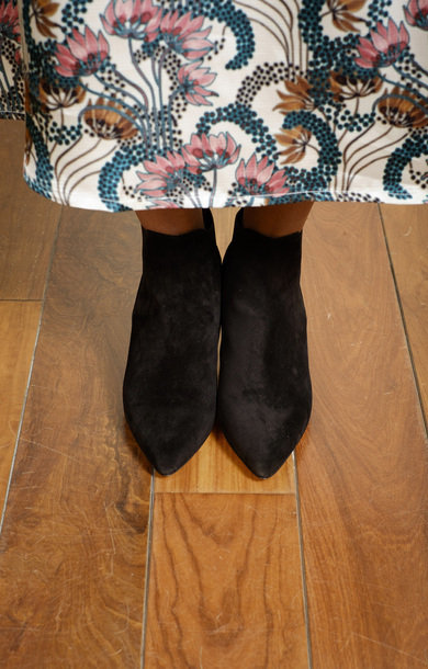 Cynara Black Suede Boot