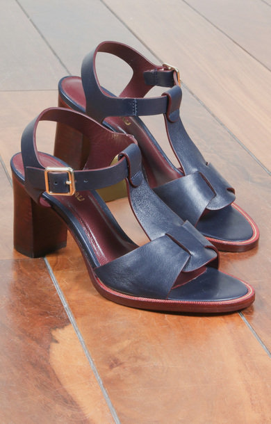Cat Navy Calf Leather