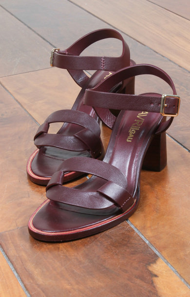 Claps Wine Calf Leather
