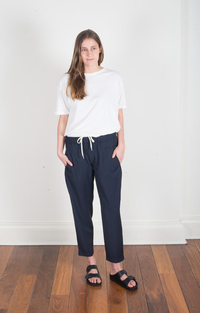 Trousers Crocetta Tela Navy