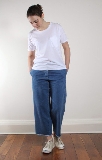 Trousers Delfina Acqua