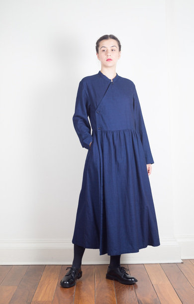 Indigo-Dyed Kurta Long Dress