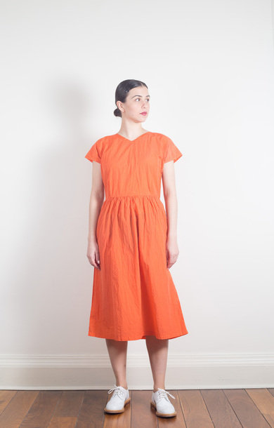 Light Weight Pullover Dress Orange