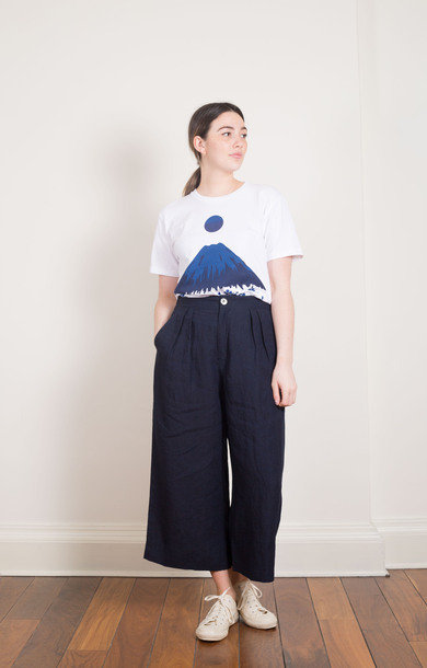 Linen Chambray Elephant Pants Indigo