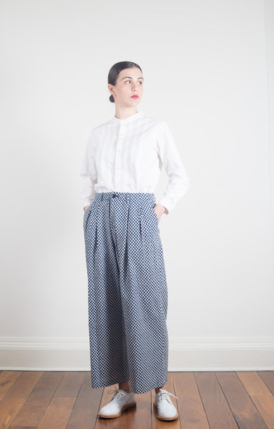 Small Checkered Bassen Relax Pants
