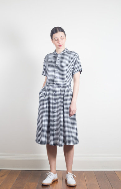 Splashed Pattern Shirt Dress White