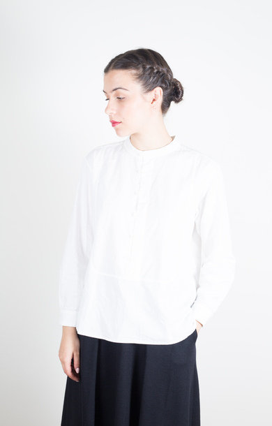 Twill Pullover Dinner Shirt White