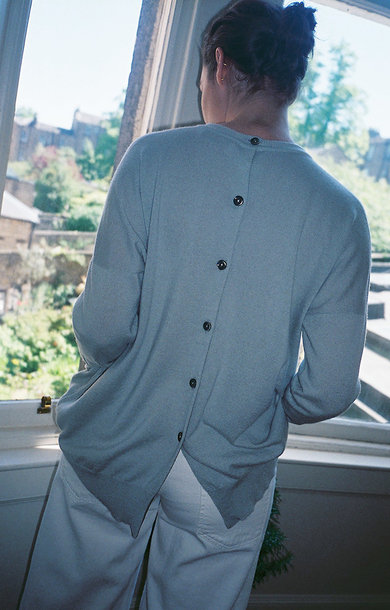 Button Back Sweatshirt Pavillion