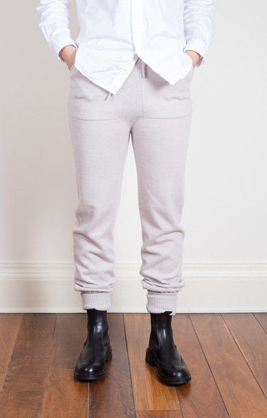 Cashmere Drawstring Pants Snow