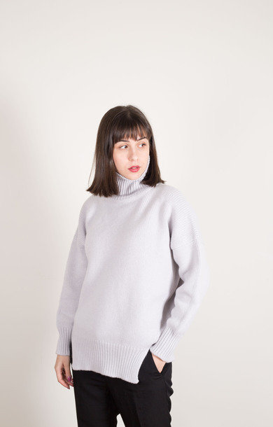 Double Split Roll Neck Sasso