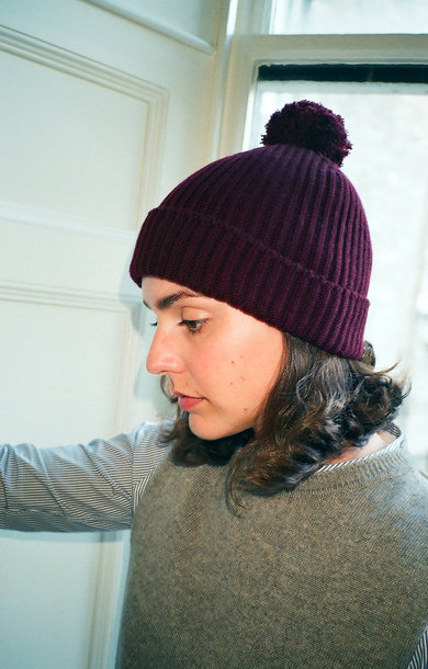 Fisherman Bobble Beanie Port