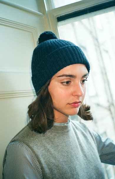 Fisherman Bobble Beanie Charcoal