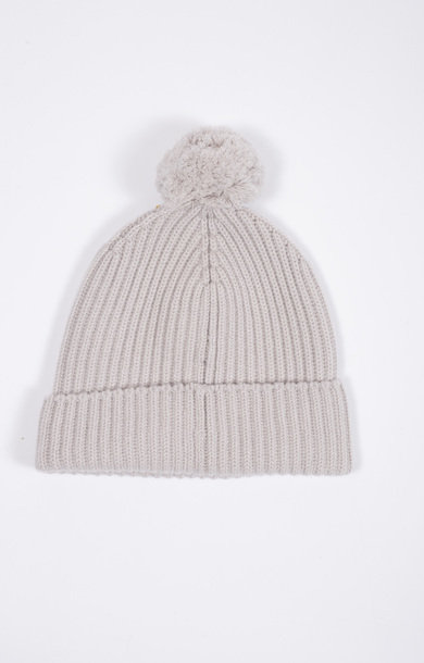 Fisherman Bobble Beanie Snow