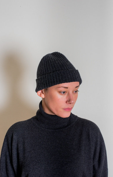 Fisherman Rib Beanie Charcoal
