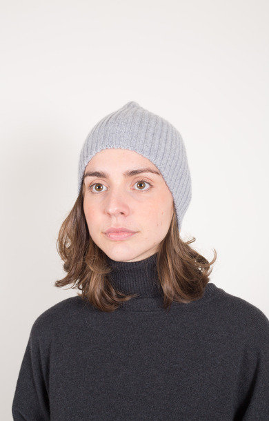 Fisherman Rib Beanie Felt Grey
