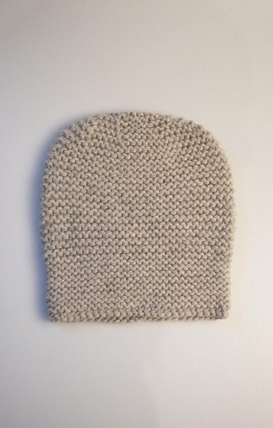 Garter Stitch Hat Moondust