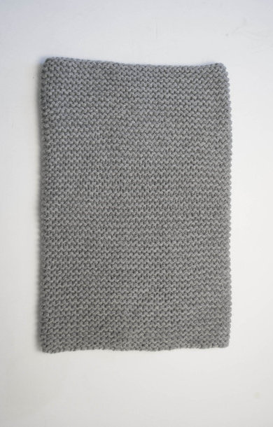 Garter Stitch Snood Felt Grey