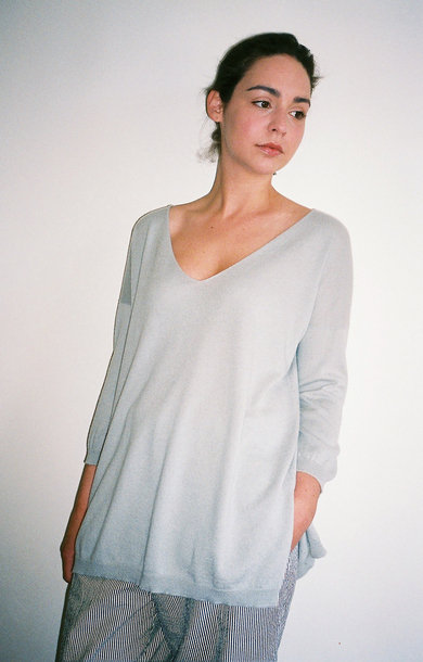 Oversized V-Neck Boxy Jumper Pavillion