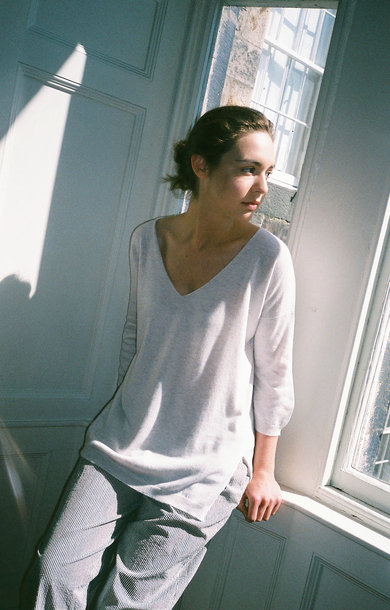 Oversized V-Neck Boxy Jumper T-Dawn