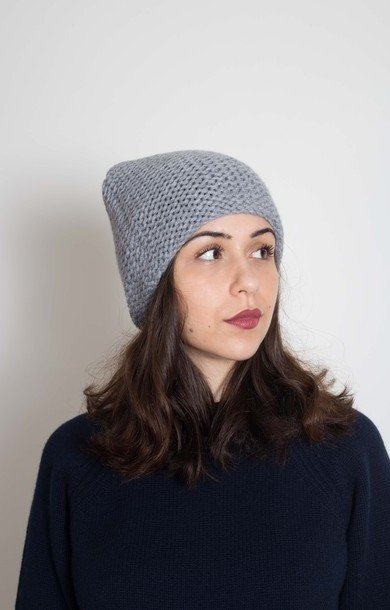 Plain Garter Stitch Hat City