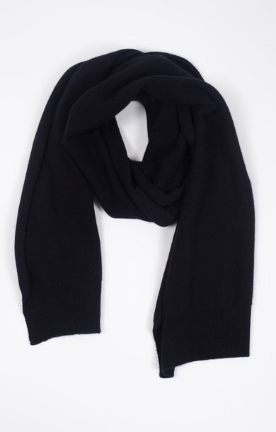 Plain Knit Scarf Black