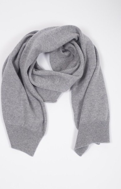 Plain Knit Scarf Felt Grey